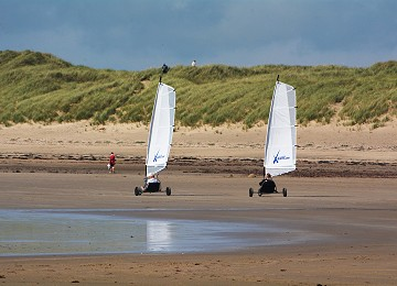 Cymyran beach at Rhosneigr is fantastic for Sand Yachting