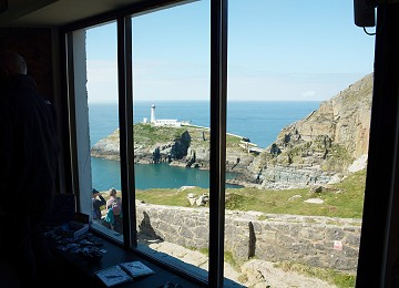 Amazing view of south stack cliffs and lighthouse from Elins tower