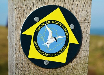 Anglesey Coastal Path sign