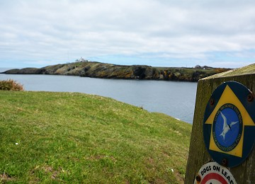 Anglesey Coastal Path Sign Porth Eilian