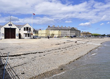 Beaumaris beach and lifeboat station