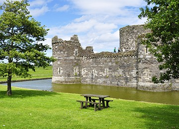 Beaumaris Castle in summer