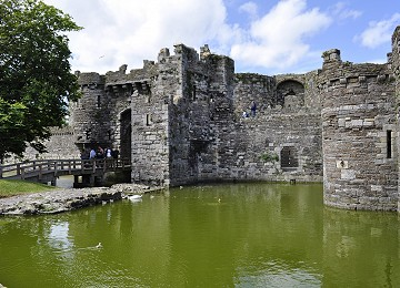 The inner harbour at Beaumaris Castle