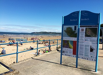 Benllech beach information sign