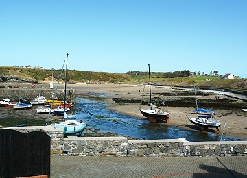 the harbour at Cemaes Bay