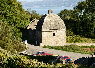 Dovecote at Penmon on Anglesey in late summer