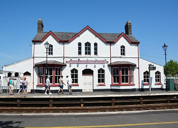 Front of Llanfairpwll railway station