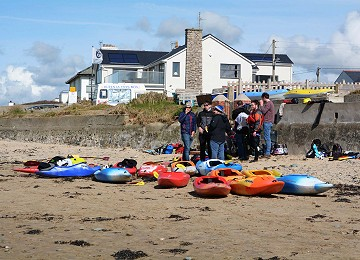 Getting ready to have fun at Rhosneigr beach on Anglesey