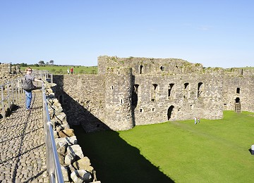 Inside Beaumaris Castle from the walls