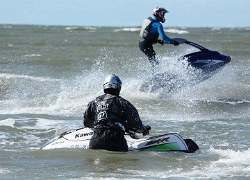 Jetski's having fun at Rhosneigr