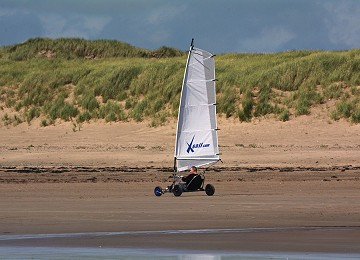 Land sailing at rhosneigr