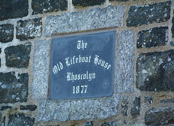 Old lifeboat house plaque