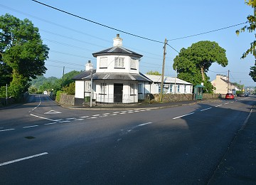 Llanfair toll house and two roads