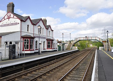 Llanfairpwll railway station on Anglesey