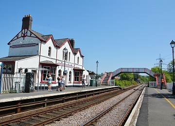 Looking down line from platform 2 at Llanfairpwll railway station