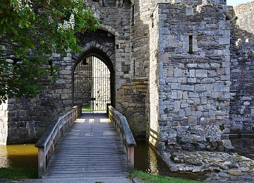 The Majestic entrance to Beaumaris castle on Anglesey