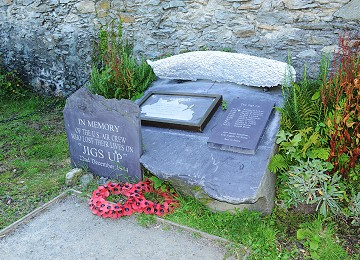 The Memorial Stone to American B24 plane crash at North Stack