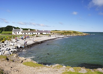 Moelfre North beach at high tide
