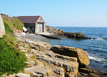 Old lifeboat station at Moelfre on Anglesey