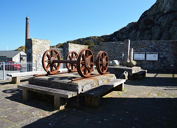 Old quarry machinery at Holyhead breakwater park