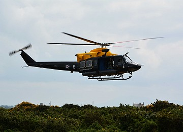 RAF Valley Griffin helicopter taking off