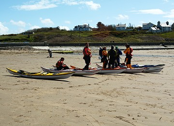 Ready to Kayak at Cemaes bay beach