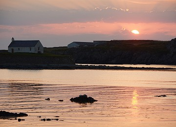 Sunset at st cwyfan's