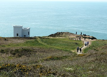 The popular path down to Elins tower at South Stack