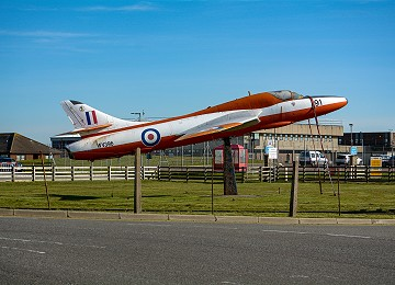 Hawker Hunter, the former Gate Guardian at RAF Valley