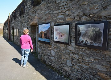 The open air art gallery at Breakwater country park