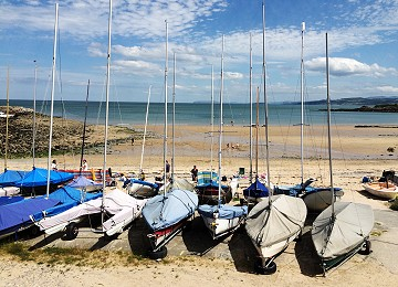 Dinghy's at Red Wharf Bay sailing club
