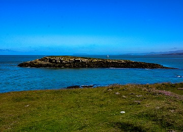Ynys moelfre on the headland at moelfre on anglesey